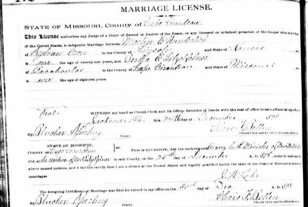 Wunderlich Litzelfelner marriage license