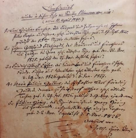 1840 confirmation class Altenburg