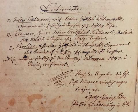 1840 confirmation class Seelitz