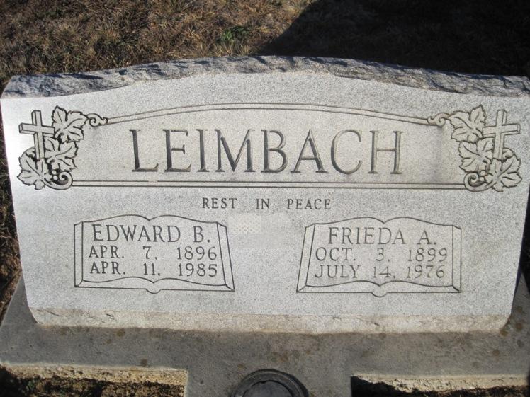 Edward Leimbach gravestone
