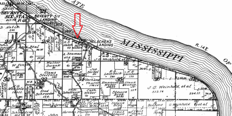 Holschen's Landing map 1915 Wichern