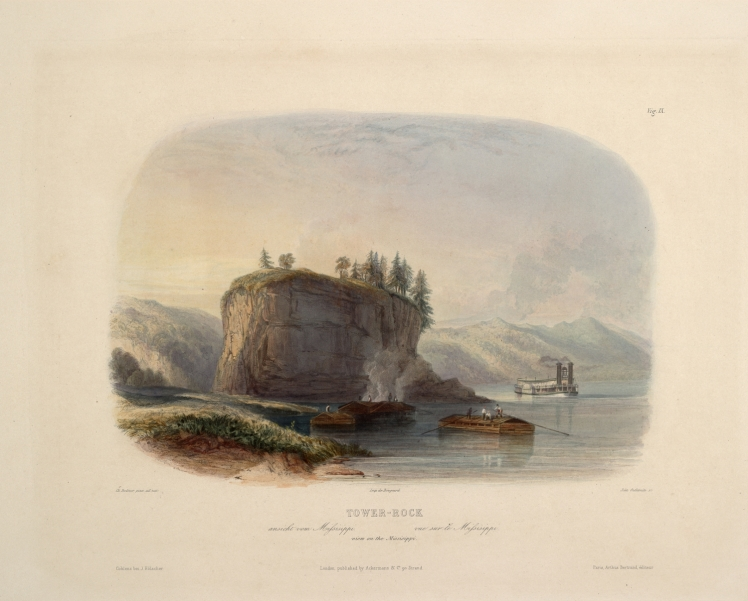 Karl_Bodmer_Travels_in_America_(9) Tower Rock