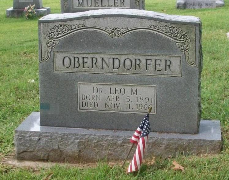 Leo Oberndorfer gravestone