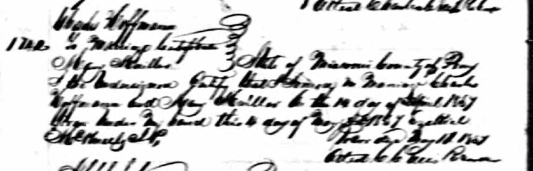 Mueller Hoffmann marriage record 1857
