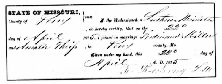 Mueller Theiss marriage license