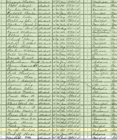 Reinhold Mueller 1900 census