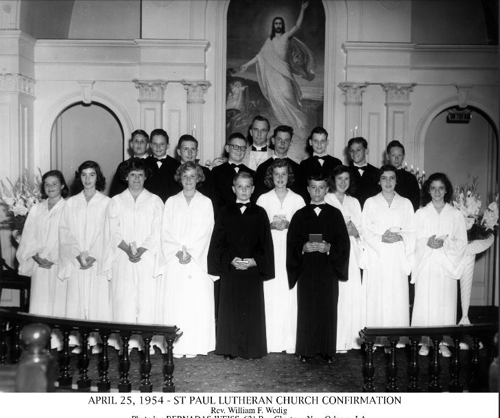 Rev. William Wedig confirmation 1954