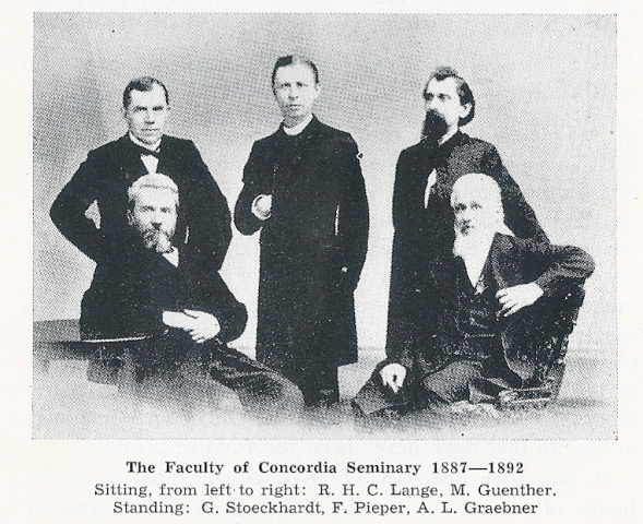 The Faculty of Concordia Seminary 1887-18920001
