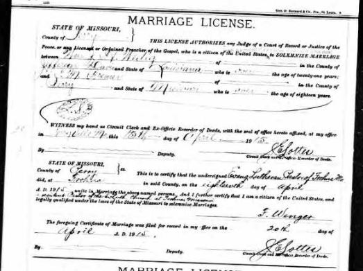 Wedig Bremer marriage record