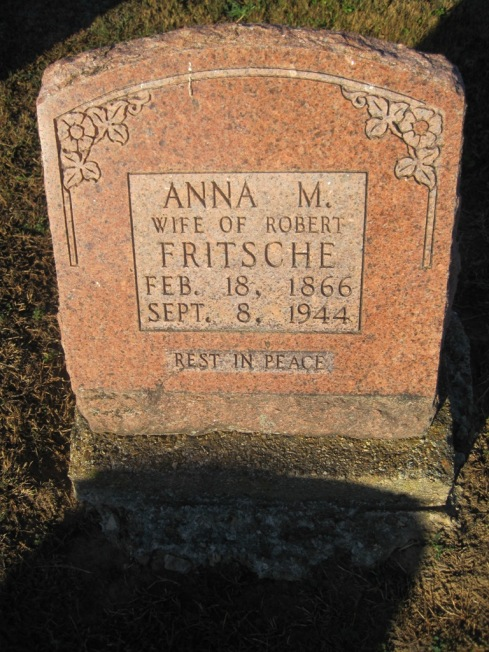 Anna Jungclaus Fritsche tombstone