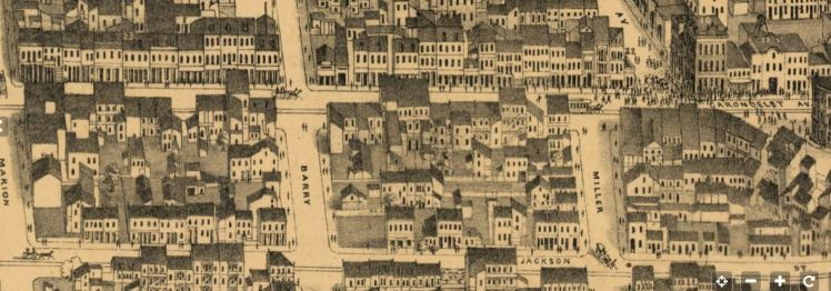 Carondelet and Barry Streets map