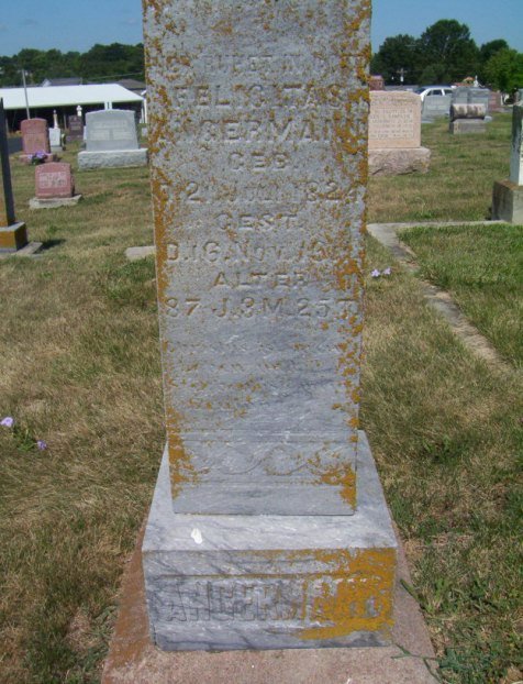 Felicitas Angermann gravestone