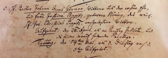 Goenner Poppitz marriage record