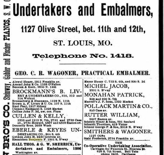 Haenichen 1889 city directory
