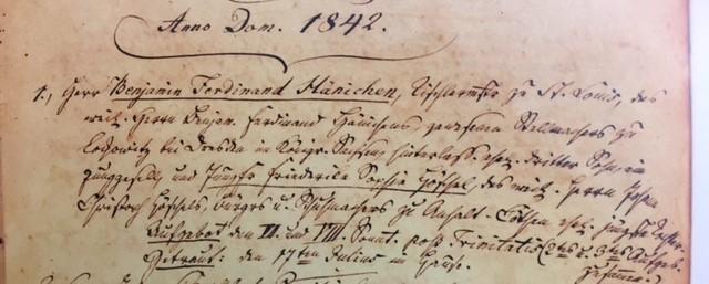 Haenichen Hoeschel marriage record