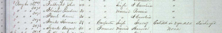 Herman Funke Civil War draft registration