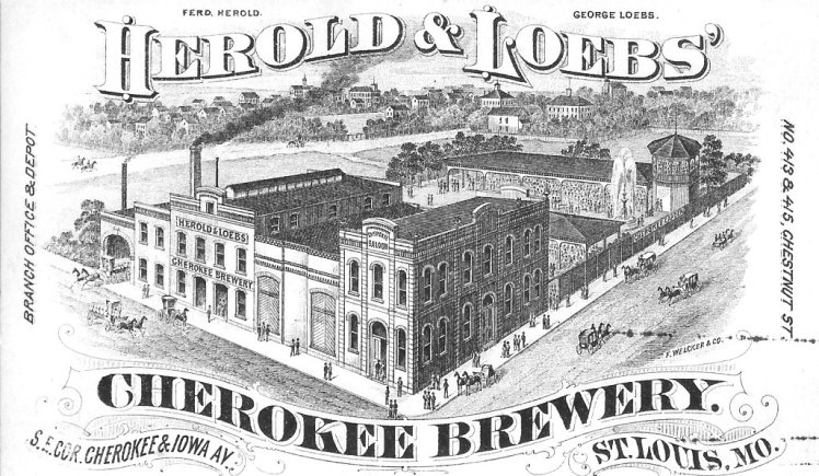 POST CARD OF THE HEROLD & LOEBS CHEROKEE BREWERY