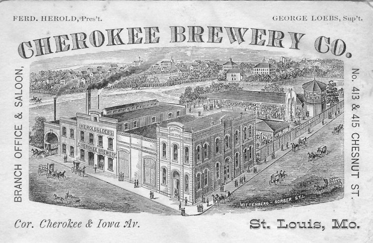 POST CARD OF THE CHEROKEE BREWERY CO.