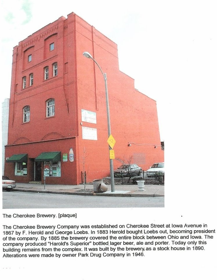 LAST REMAINING BUILDING OF THE CHEROKEE BREWERY CO.