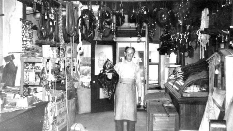 inside Grebing harness shop