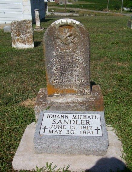 John Michael Sandler gravestone Immanuel Perryville