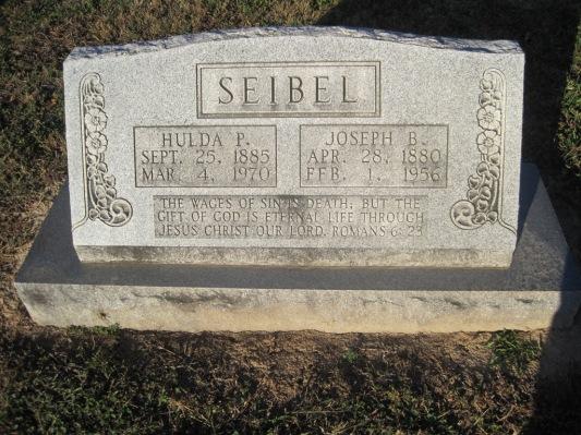 Joseph Hulda Seibel gravestone