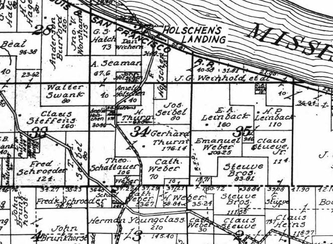 Joseph Seibel land map