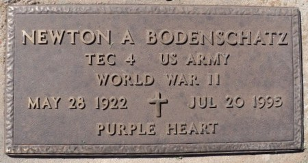 Newton Bodenschatz grave military plaque