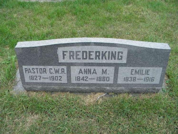 Rev. C.W.R. Frederking gravestone