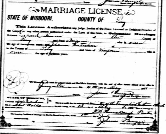 Thurm Kutscher marriage license