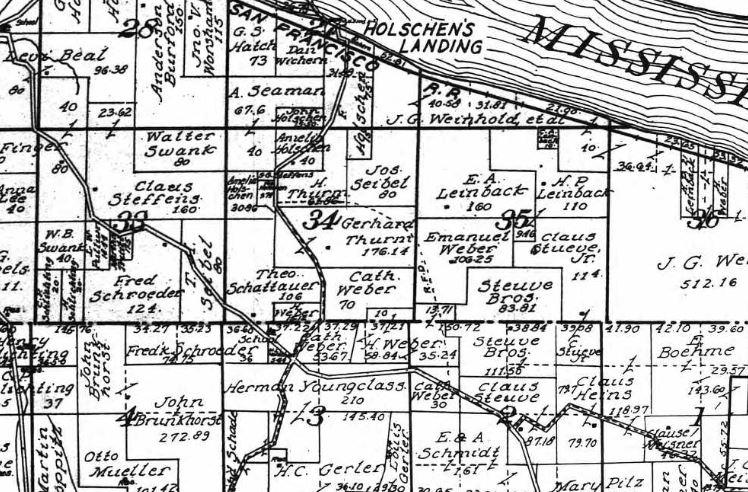 Thurm land ownership map