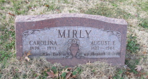 Carolina Mirly gravestone