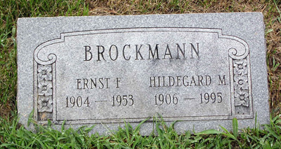 Ernst and Hildegard Brockmann gravestone