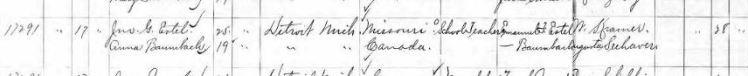 Estel Baumbach marriage record Detroit MI