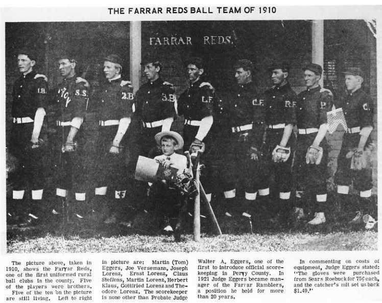 Farrar Reds baseball team 1910