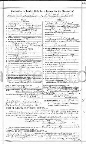 Fischer Ledford marriage license