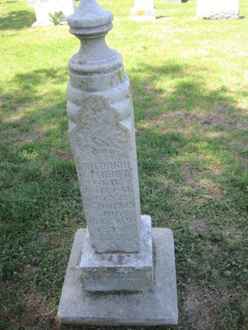 Friedrich Zerbst gravestone