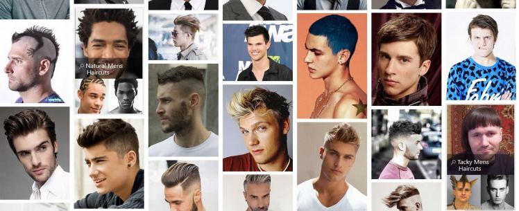 Funky men's haircuts
