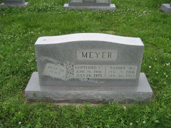 Gottfried and Esther Meyer gravestone