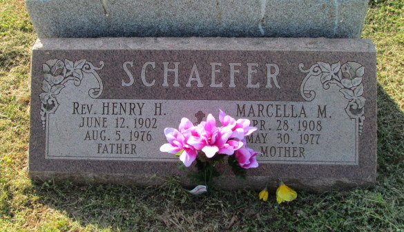 Henry and Marcella Schaefer gravestone