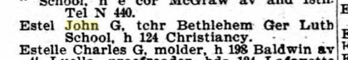 John Estel city directory Detroit 1899