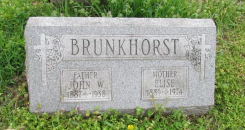 John W and Elizabeth Brunkhorst gravestone