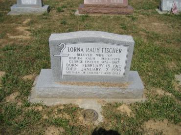 Lorna Rauh Fischer gravestone