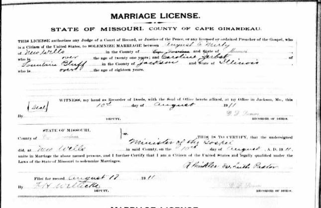 Mirly Zerbst marriage license