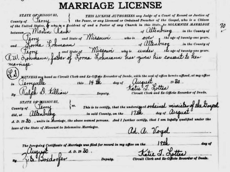 Missouri Marriage Records, 1805-2002