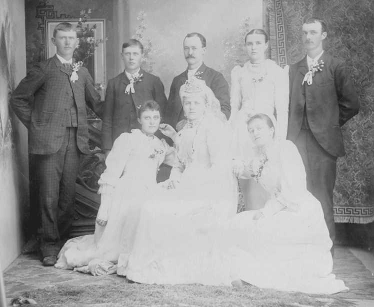 Oswald Kaempfe wedding party
