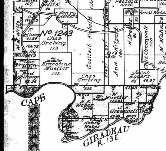 Weber land map
