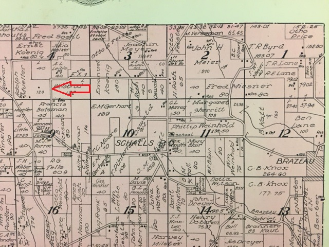Adolph Mueller land map 1915