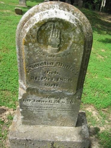 Amalia Mueller gravestone Concordia Frohna