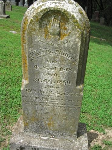 Carl Mueller gravestone Concordia Frohna